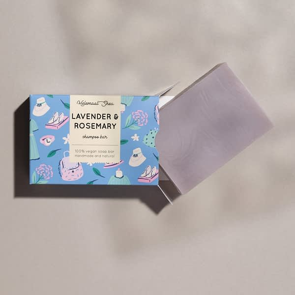 HelemaalShea tahke šampoon lavendli ja rosmariiniga 110g