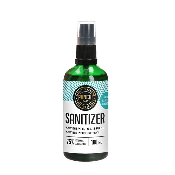 Punch sanitizer antiseptiline sprei klaaspudelis 100ml