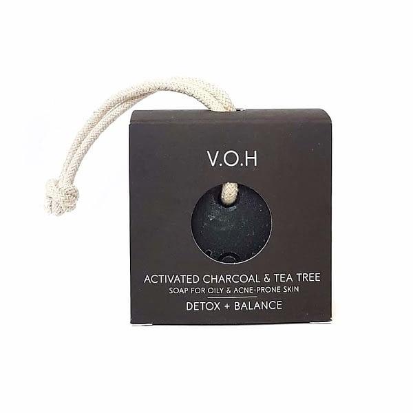 voh detox seep aktiivsöe ja teepuuõliga, nööriga 90g
