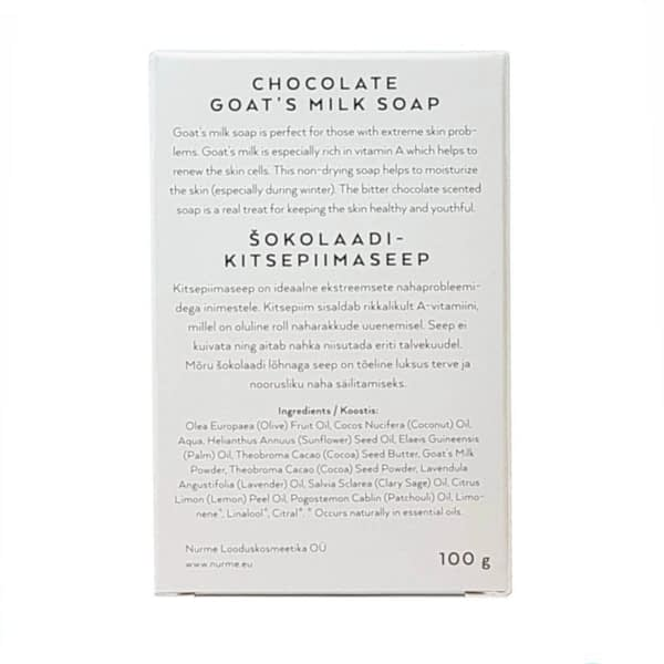 Nurme šokolaadikitsepiimaseep 100g