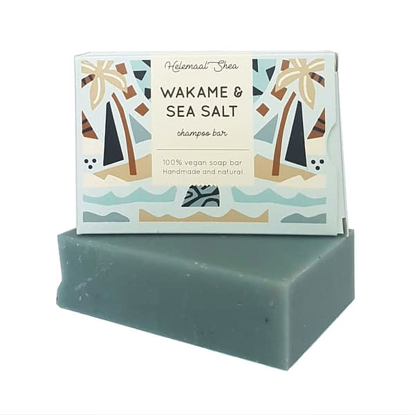 HelemaalShea tahke šampoon wakame ja meresoolaga